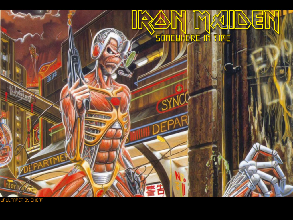 iron maiden somewhere in time wallpaper wwwimgkidcom